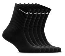 Six-pack Everyday Cushioned Dri-fit Socks - Black