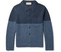 Cheever Colour-block Donegal Merino Wool-blend Cardigan