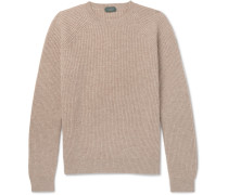 Ribbed Mélange Virgin Wool Sweater