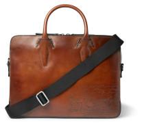 Profile Mini Scritto Leather Briefcase