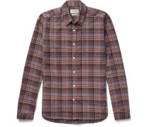 New York Special Checked Cotton-flannel Shirt - Multi