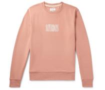 Bowery Logo-Print Loopback Cotton-Jersey Sweatshirt