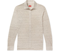 Mélange Slub Linen Shirt - Sand