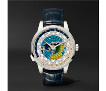Heritage Spirit Orbis Terrarum Latin Unicef 41mm Stainless Steel And Alligator Watch - Navy