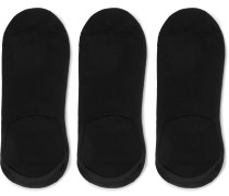 Three-Pack Stretch Bamboo-Blend No-Show Socks
