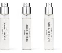 La Sélection Boisée Eau De Parfum Set - Mojave Ghost, Super Cedar & Black Saffron, 3 X 12ml - Colorless