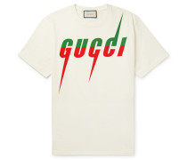 Oversized Logo-print Cotton-jersey T-shirt - Off-white