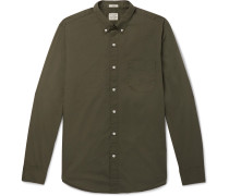 Garment-dyed Stretch-cotton Poplin Shirt