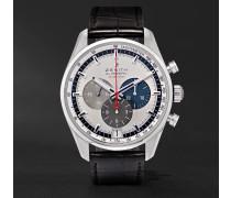 El Primero 42mm Stainless Steel and Alligator Watch, Ref. No. 03.2040.400/69.C494