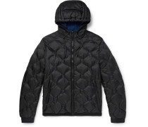Quilted Ripstop-Shell Hooded Jacket