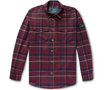 + Woolrich Checked Wool-Blend Flannel Shirt