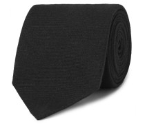 8cm Cashmere And Mulberry Silk-blend Twill Tie - Black