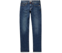 Slim-fit Stretch-denim Jeans - Mid denim