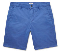 Crown Garment-dyed Stretch-cotton Twill Shorts