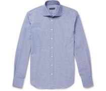Slim-fit Cutaway-collar End-on-end Cotton Shirt