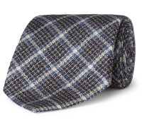 8cm Checked Silk And Wool-blend Tie