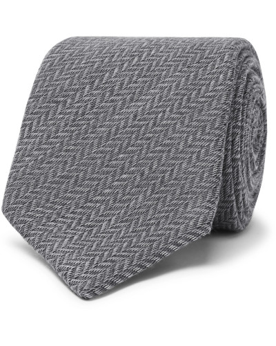8cm Wool And Silk-blend Jacquard Tie - Gray