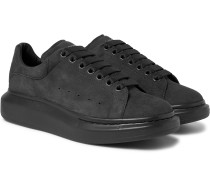 Exaggerated-Sole Suede Sneakers