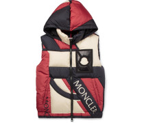 5 Moncler Craig Green Colour-block Quilted Shell Hooded Down Gilet - Red