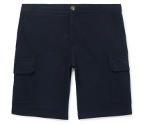 Cotton-blend Cargo Shorts - Midnight blue