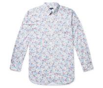 Floral-Print Cotton-Poplin Shirt