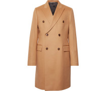 Double-breasted Wool And Cashmere-blend Coat - Camel