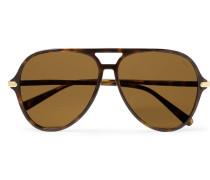 Aviator-style Tortoiseshell Acetate Sunglasses - Tortoiseshell