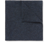 Textured-cotton Pocket Square - Navy