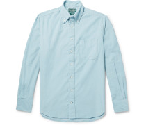 Slim-fit Button-down Collar Cotton-corduroy Shirt - Blue