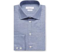 Blue Puppytooth Cotton Shirt