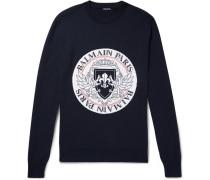 Intarsia Virgin Wool-blend Sweater