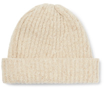 Ribbed Merino Wool and Cashmere-Blend Beanie