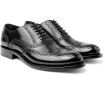 Algy Polished-leather Wingtip Brogues - Black