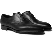 Inverness Leather Wingtip Brogues - Black