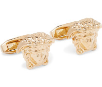 Medusa Gold-Tone Cufflinks