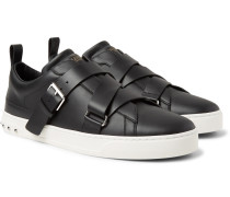 Valentino Garavani V-punk Leather Sneakers