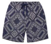 Phil Slim-Fit Bandana-Print Cotton Drawstring Shorts