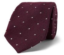 + Drake's 8cm Polka-Dot Wool and Silk-Blend Tie