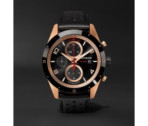 TimeWalker Automatic Chronograph 43mm 18-Karat Red Gold, Ceramic and Leather Watch, Ref. No. 117051