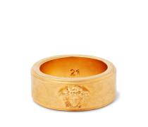 Logo-Detailed Gold-Tone and Enamel Ring