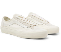 36 Decon Sf Leather-trimmed Canvas And Suede Sneakers