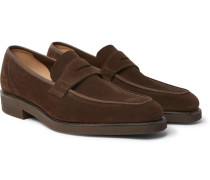 George Suede Penny Loafers - Brown