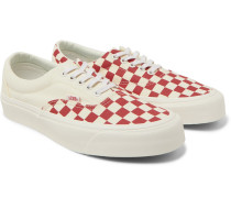 Era Checkerboard Canvas Sneakers - Red