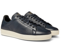 Warwick Perforated Full-Grain Leather Sneakers