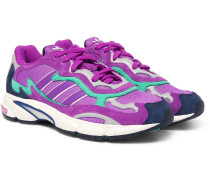 Temper Run Mesh And Suede Sneakers - Purple