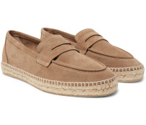 Nacho Suede Loafer Espadrilles - Brown