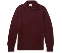 Wool and Cashmere-Blend Half-Zip Sweater