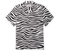 + Fragment Camp-Collar Zebra-Print Lyocell Shirt