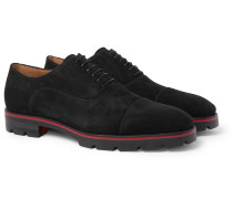 Hubertus Cap-Toe Suede Oxford Shoes