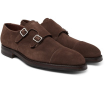 Thomas Leather Monk-strap Shoes - Dark brown